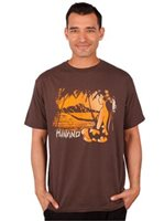 Hinano Tahiti Diamond Head Chocolate Brown Men's T-Shirt