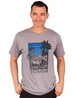 Hinano Tahiti Hala View Medium Grey Heather Men's T-Shirt