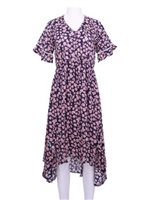 Angels by the Sea Pink Rayon Floral  High-Low Dress