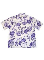 KY'S Aloha Spirit Purple Cotton Men's Hawaiian Shirt
