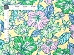 Tropical Hibiscus   Yellow Poly Cotton LW-19-695