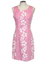 KY'S Hibiscus Lei Pink Cotton Tank Dress