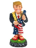 KC Hawaii President Trump with Ukulele Mini Dashboard Doll