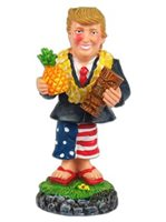 KC Hawaii President Trump with Pineapple & Tiki  Mini Dashboard Doll