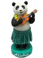 KC Hawaii Panda With Ukulele Mini Dashboard Doll
