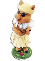 KC Hawaii Hula Pig Mini Dashboard Doll