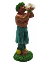 KC Hawaii Man with Conch Shell Mini Dashboard Doll
