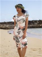 Vermilli Hawaii Devynn  Soft Palm Women's Midi Dress