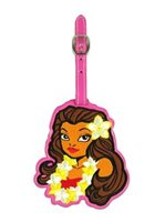 KC Hawaii Island Girl Hawaiian Vinyl Luggage Tag