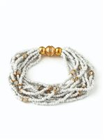 Splendid Iris Gray Beaded Bracelet