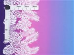 Pineapple Monstera Purple & Blue Poly Cotton FK-015