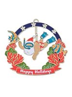 Island Heritage Snorkeling Santa Collectible Ornament