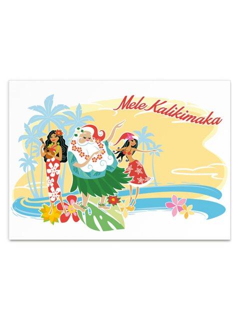 Mele Kalikimaka Christmas Cards.Santas Holiday Honey Boxed Christmas Cards