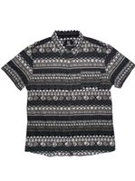 Hinano Tahiti Tumata Black Cotton Men's Hawaiian Shirt