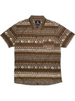 Hinano Tahiti Tumata Tobacco Cotton Men's Hawaiian Shirt