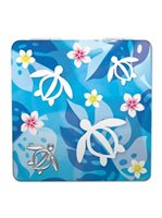 Island Heritage Honu Floral Compact Mirror