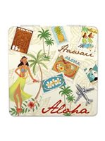 Island Heritage Stamped with Aloha Compact Mirror