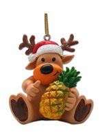 KC Hawaii Reindeer & Pineapple Island Style Ornament