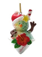 KC Hawaii Shave Ice Snowman Island Style Ornament