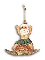 KC Hawaii Santa Riding Honu Island Style Ornament