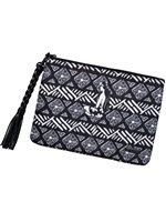 Hinano Tahiti Breanne Black Clutch Bag