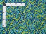 Majestic Monstera Blue & Green Poly Cotton BN-15-152