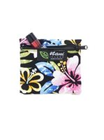 Nani Island Groovy Hibiscus Black Hawaiian Coin Purse