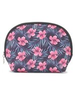 Happy Wahine Hibiscus Pink Nylon Round Pouch