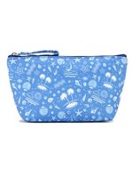 Happy Wahine Ocean Blue Nylon Pouch