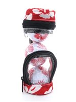 Hibiscus  Red Floral Golf Ball In Golf Bag