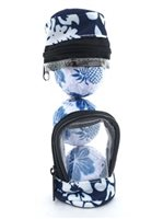 Hibiscus  Blue Floral Golf Ball In Golf Bag
