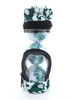 Hibiscus  Green Floral Golf Ball In Golf Bag
