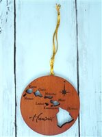 Hawaii Map Hawaiian  Ornament