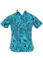 Hinano Tahiti Kapula Aquarius Cotton Men's Hawaiian Shirt