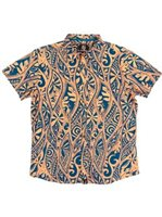 Hinano Tahiti Kapula Melon Cotton Men's Hawaiian Shirt