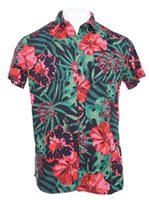 Hinano Tahiti Pito Black Rayon Men's Hawaiian Shirt