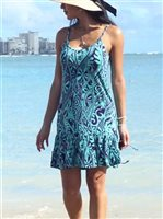 Hinano Tahiti Hinoi Turquoise Short Dress