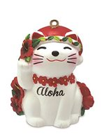 Island Heritage Holiday Lucky Cat Christmas Ornament