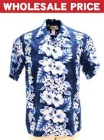 [Wholesale] Two Palms Pacific Panel Navy Cotton Men's Hawaiian Shirt