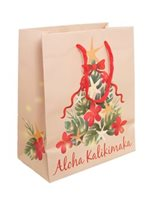 Tropical Christmas Tree Aloha Kalikimaka Christmas Gift Tote