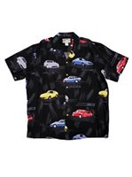 Paradise Found Z Collection Black Rayon Men's Hawaiian Shirt