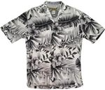 Two Palms Big Fern White Rayon Men's Hawaiian Shirt