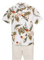Two Palms Hawaiian Orchid White Rayon Men's Hawaiian Shirt