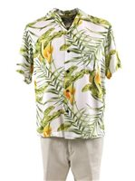 Two Palms Napali White Rayon Men's Hawaiian Shirt