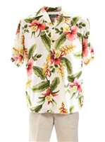 Two Palms Sonic Beige Rayon Men's Hawaiian Shirt