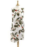 Two Palms Hawaiian Orchid White Rayon Hawaiian Sarong Short Dress