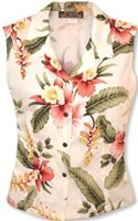 Two Palms Sonic Beige Rayon Women's Sleeveless Blouse